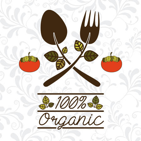 organic concept: Organic concept with healthy food design, vector illustration eps 10 Illustration
