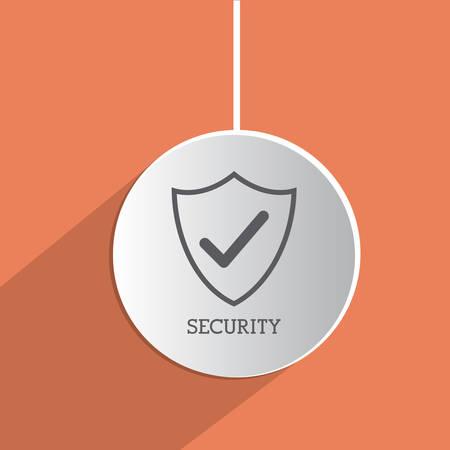 dangerous ideas: Security icon concept over flat design, vector illustration