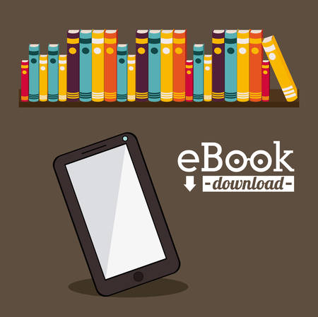 Education concept about the using of the ebooks, vector illustration