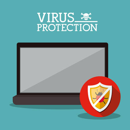 Cyber security concept about warning icon design, vector illustration