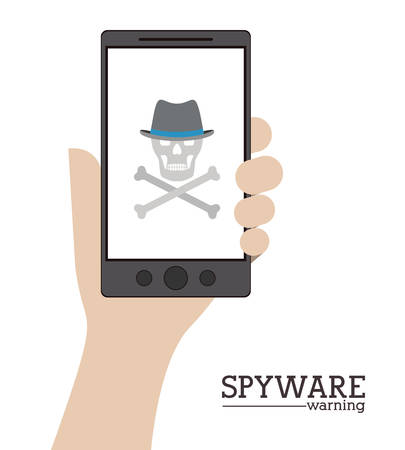 trajan: Cyber security concept about warning icon design, vector illustration   Illustration