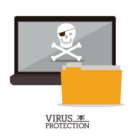 cyber security: Cyber security concept about warning icon design, vector illustration   Illustration