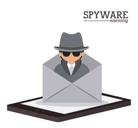 cyber security: Cyber security concept about warning icon design, vector illustration