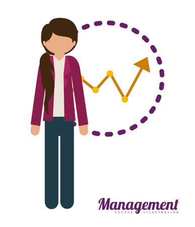management concept: Management concept about business icons design, vector illustration