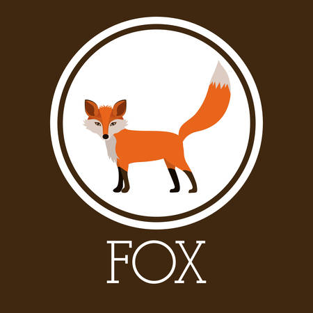 wildlife reserve: Animal concept about fox design, vector illustration eps 10