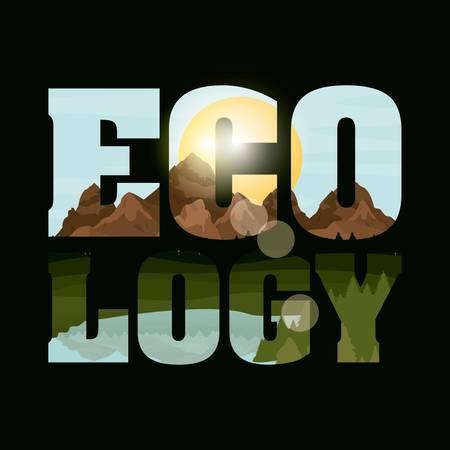 double exposure concept with landscape designs, vector illustration eps 10