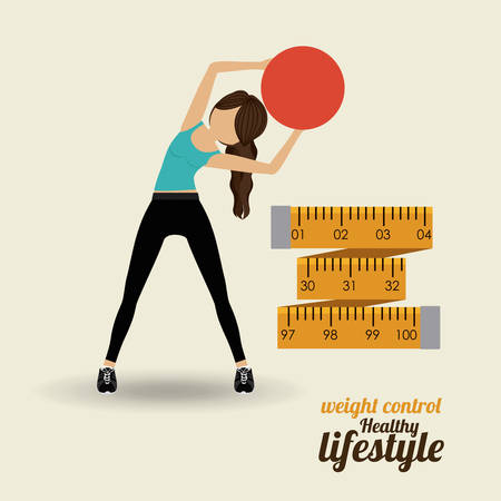 healthy sport: Healthy Lifestyle concept with fitness icons design, vector illustration eps 10 Illustration