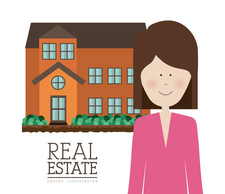 home buyer: Real Estate concept about building design, vector illustration eps 10