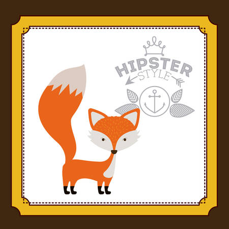 reserve: Animal concept about fox design, vector illustration