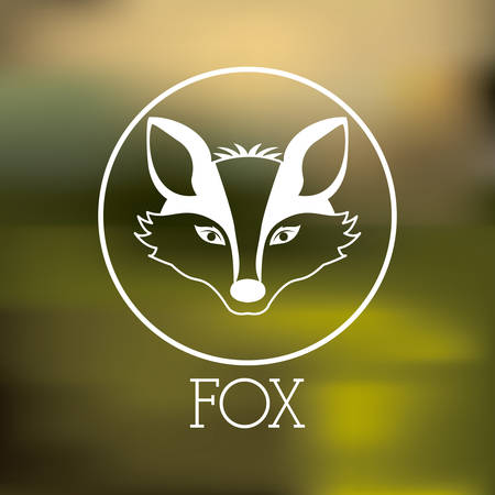 wildlife conservation: Animal concept about fox design, vector illustration eps 10