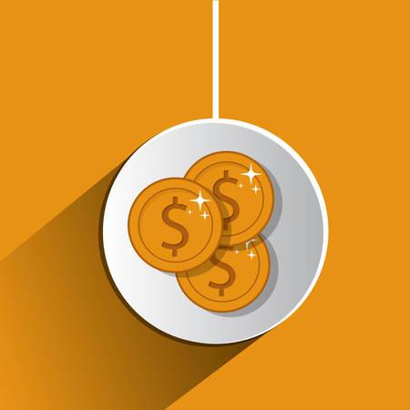 economia: Concepto de la economía mundial con el diseño de los iconos de dinero, ilustración vectorial eps 10
