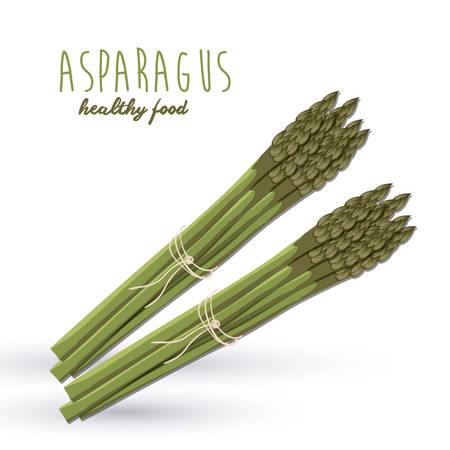 asparagus: Healthy food concept with organic products design, vector illustration eps 10 Illustration