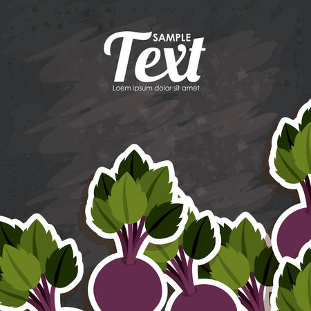 fresh produce: Healthy food concept with  organic products design, vector illustration eps 10