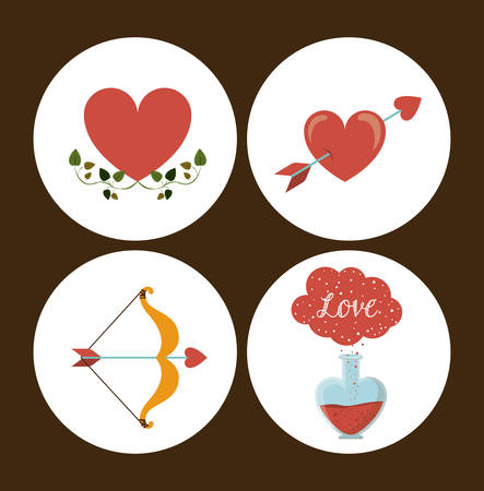romantic: love concept with  romantic icons design, vector illustration eps 10 Illustration