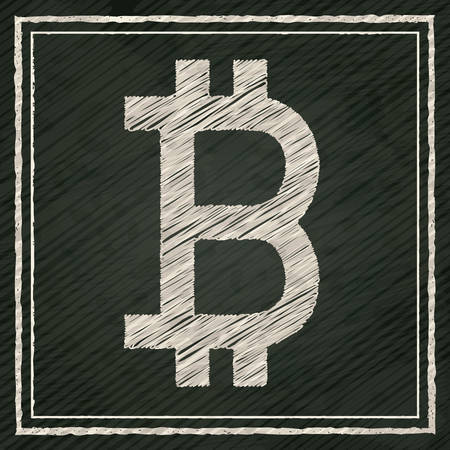economic forecast: Global Economy concept with bitcoin icon design, vector illustration eps 10 Illustration