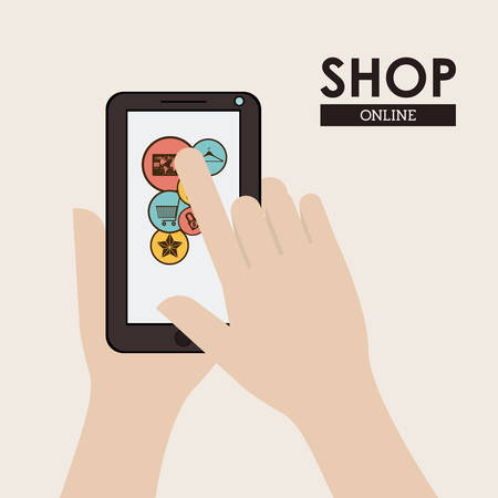 ecommerce icons: Shop concept with ecommerce icons design, vector illustration eps 10 Illustration