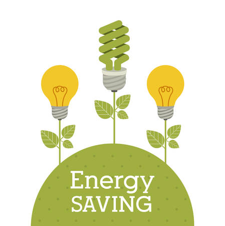 eco: Energy saving concept with eco icons design, vector illustration eps 10 Illustration