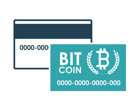 fund world: Global Economy concept with bitcoin icon design, vector illustration eps 10 Illustration