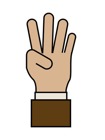 using senses: Hand Gesture concept with positive icons design,  vector illustration eps 10 Illustration