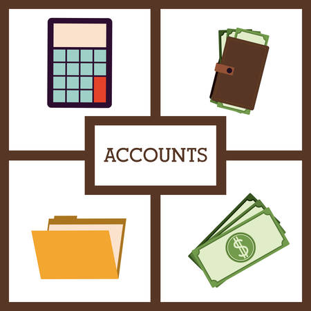 accounts: Technology concept with accounts icons vector illustration eps 10