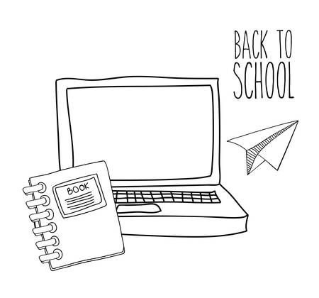 schoolkids: Eduaction  concept with back to school icons design, vector illustration