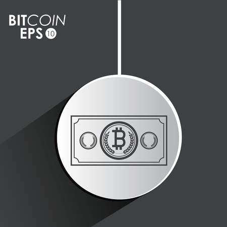 economic forecast: Global Economy concept with bitcoin icon design, vector illustration