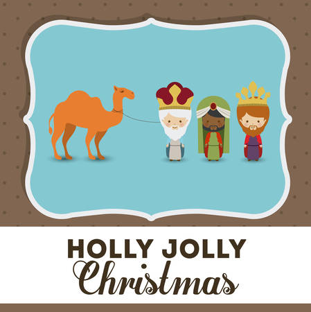 bethlehem christmas: Merry Christmas concept with decoration icons design, vector illustration