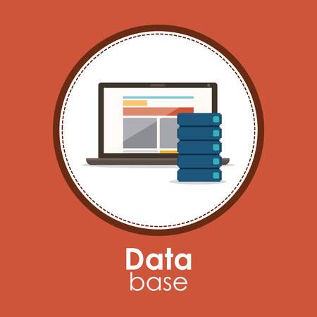 bases de donn�es: Data base concept and cloud computing design, vector illustration