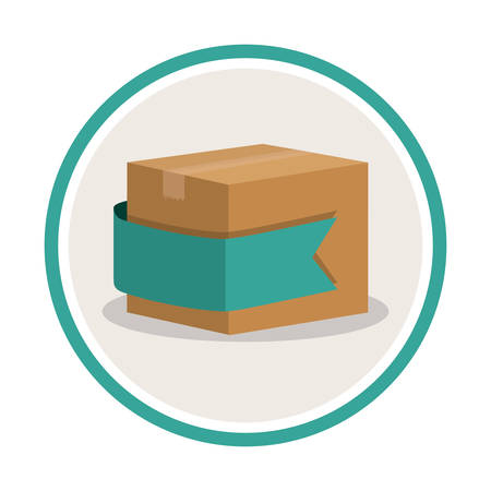 package icon: Delivery concept with package icon design, vector illustration