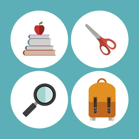 schoolkids: Education concept with back to school icons design, vector illustration