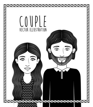 love couples: Couple concept with boy and girl design, vector illustration