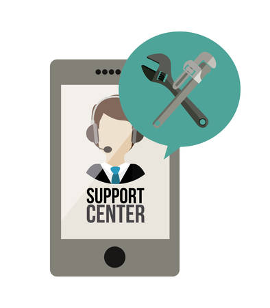 support center: Support center concept with assistant design, vector illustration  Illustration