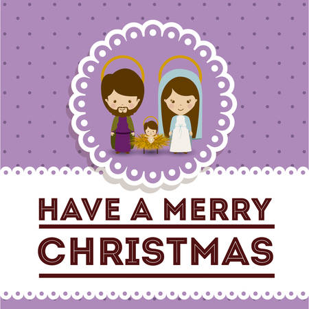 nativety: Merry Christmas concept with decoration icons design, vector illustration