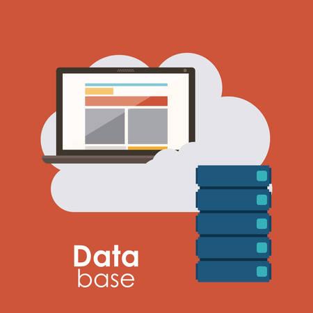 data base: Data base concept and cloud computing design, vector illustration Illustration