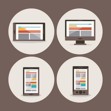 bases de donn�es: Data base concept and cloud computing design, vector illustration Illustration