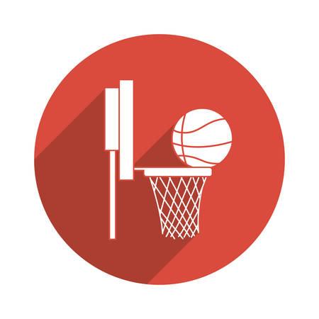 league: Basketball concept with league icons design, vector illustration