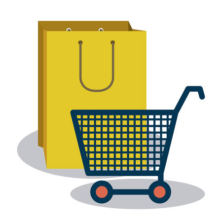 shopping bag icon: Shopping online concept with money icons design, vector illustration eps 10