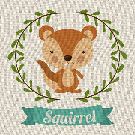 wildlife reserve: Little animal concept about cute squirrel design, vector illustration eps 10