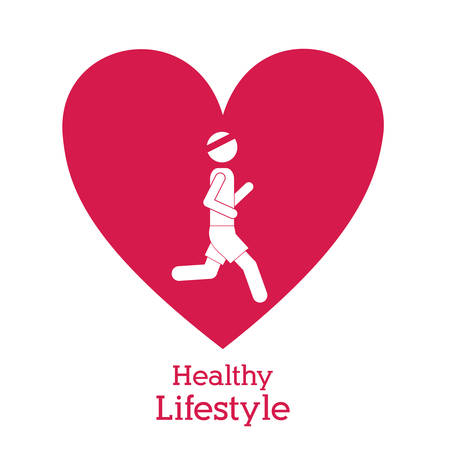heart health: Healthy Lifestyle concept with pictogram design, vector illustration eps 10
