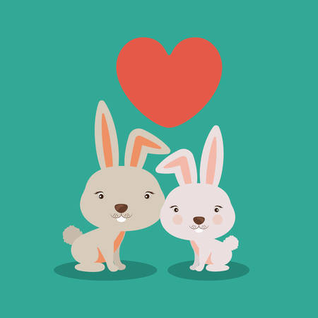 wildlife reserve: Little animal concept about cute rabbit design, vector illustration eps 10