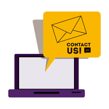 telemarketing: Contact us concept with telemarketing icons  design, vector illustration eps 10 Illustration