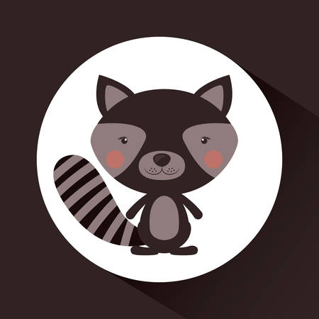 wildlife reserve: Little animal concept about cute raccon design, vector illustration eps 10 Illustration