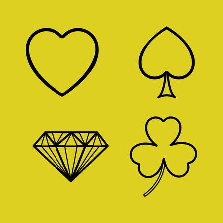 jack of hearts: Cards concept with icons design, vector illustration eps 10 Illustration
