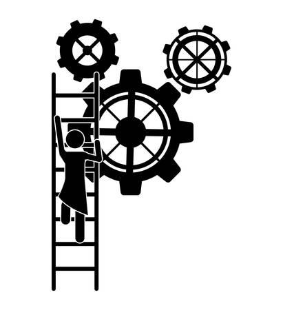 collaborative: Teamwork concept with pictogram design, vector illustration eps 10