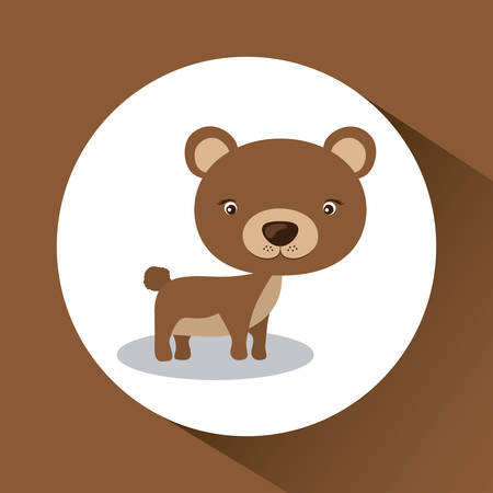 wildlife reserve: Little animal concept about cute bear design, vector illustration eps 10