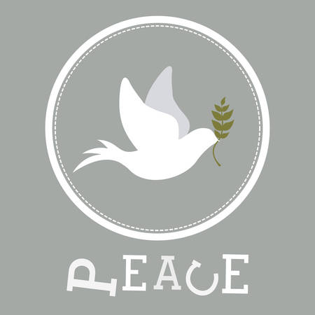 peace concept: peace concept with dove design, vector illustration eps 10 Illustration
