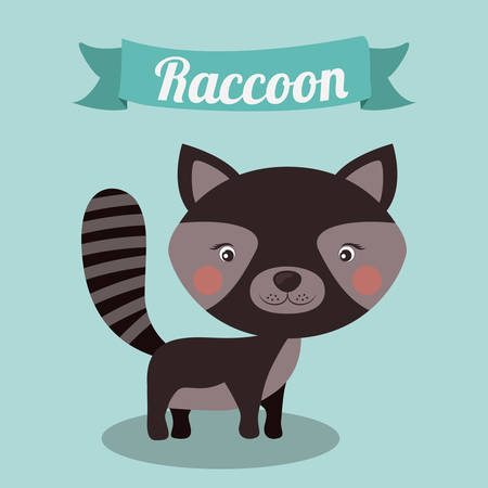 'wildlife reserve': Little animal concept about cute raccon design, vector illustration eps 10 Illustration