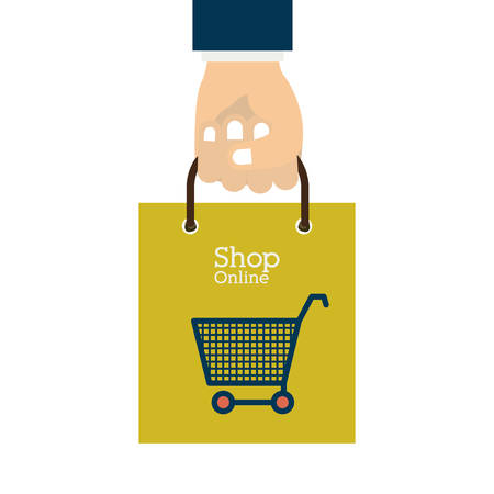 retail display: Shopping online concept with money icons design, vector illustration eps 10