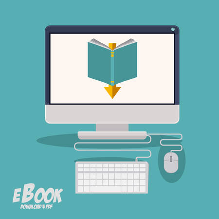 ebook: Ebook concept with technology gadget design, vector illustration eps 10