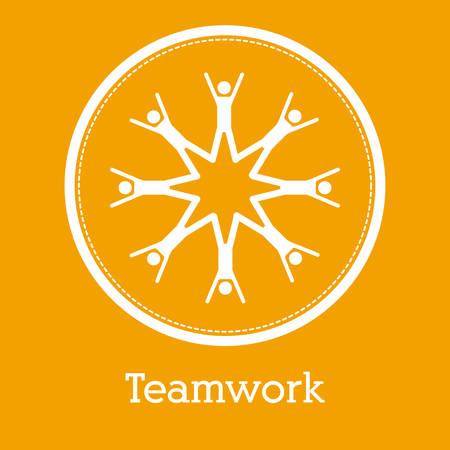 Teamwork concept with pictogram design, vector illustration eps 10